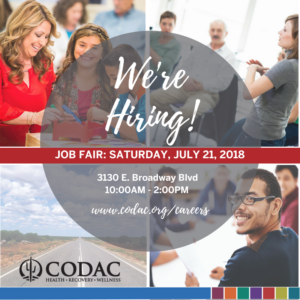 Come to CODAC's Job Fair on July 21, 2018