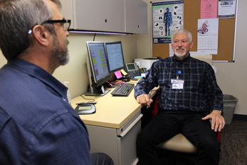 Meeting with a Behavioral Health Medication Professional to be prescribed medication assisted treatment for opioid use.